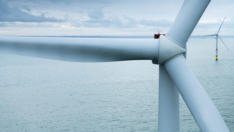 Windturbine auf See