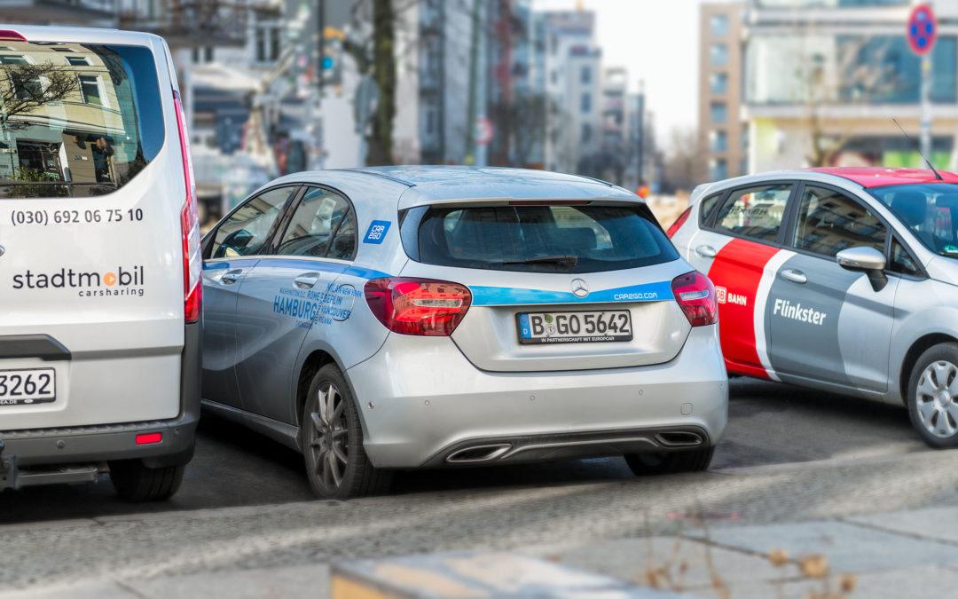 Carsharing wächst in der Fläche
