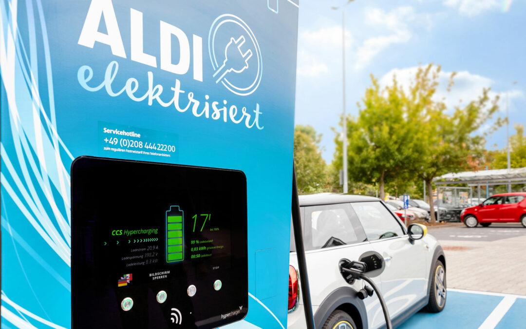 """""""Aldi elektrisiert"""": Jedes Jahr 200 neue Stromtankstellen"""