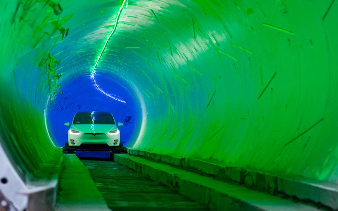 Mit Tesla durch den Untergrund von Las Vegas