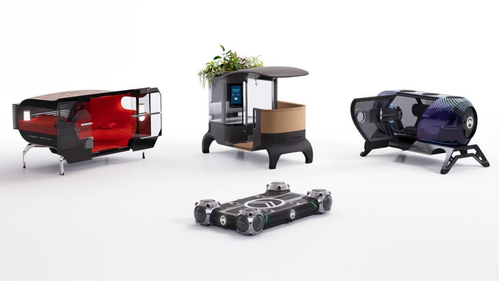 """Eine Plattform, drei denkbare Aufbauten Das Konzept """"Urban Kollektif"""" besteht aus zwei Teilen - und lädt Partnerunternehmen zum Mitmachen ein. Foto: Citroën"""