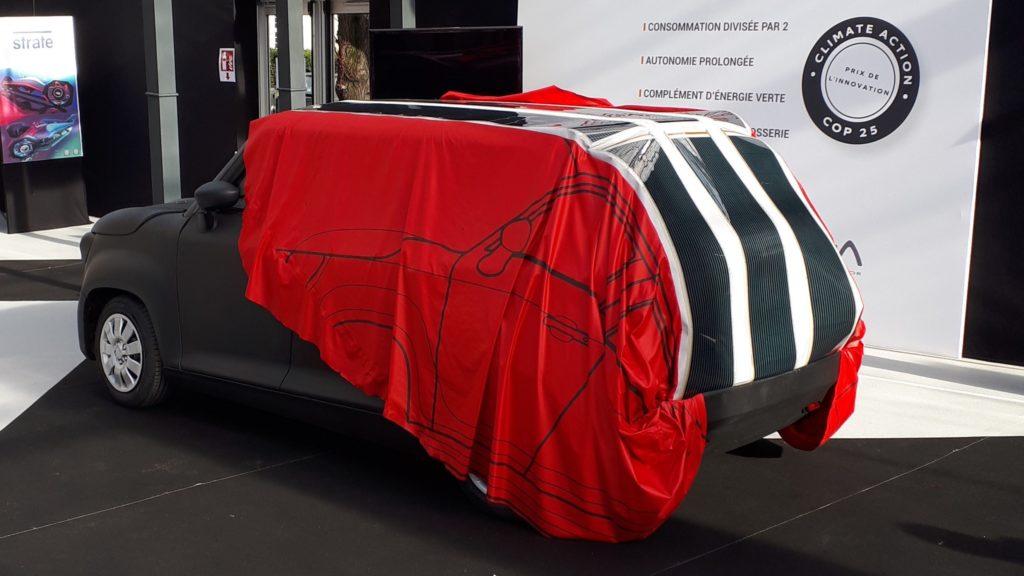 Elektroauto Gazelle mit Solarfolie von ACPV