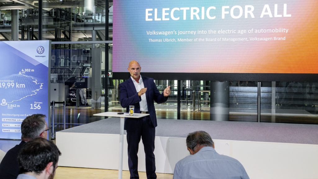 Thomas Ulbrich, Member of the Board of Management of the Volkswagen Brand, responsible for E-Mobility.