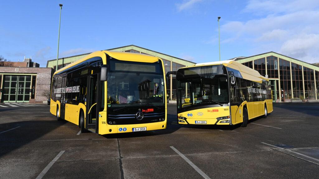 Elektrobusse der Berliner verkehrsbetriebe