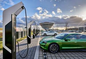 Ladepark von Porsche in Leipzig
