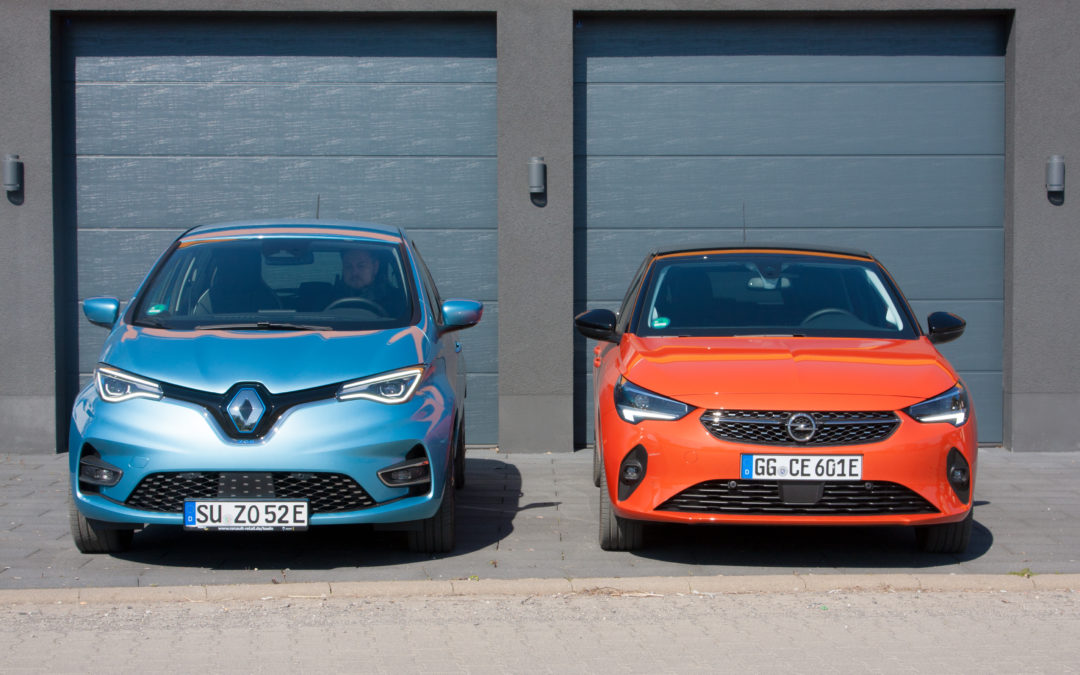 Sportlich oder spacig, Opel Corsa oder Renault Zoe?