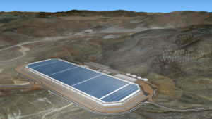 Teslas Gigafactory 1 in Nevada (Simulation)