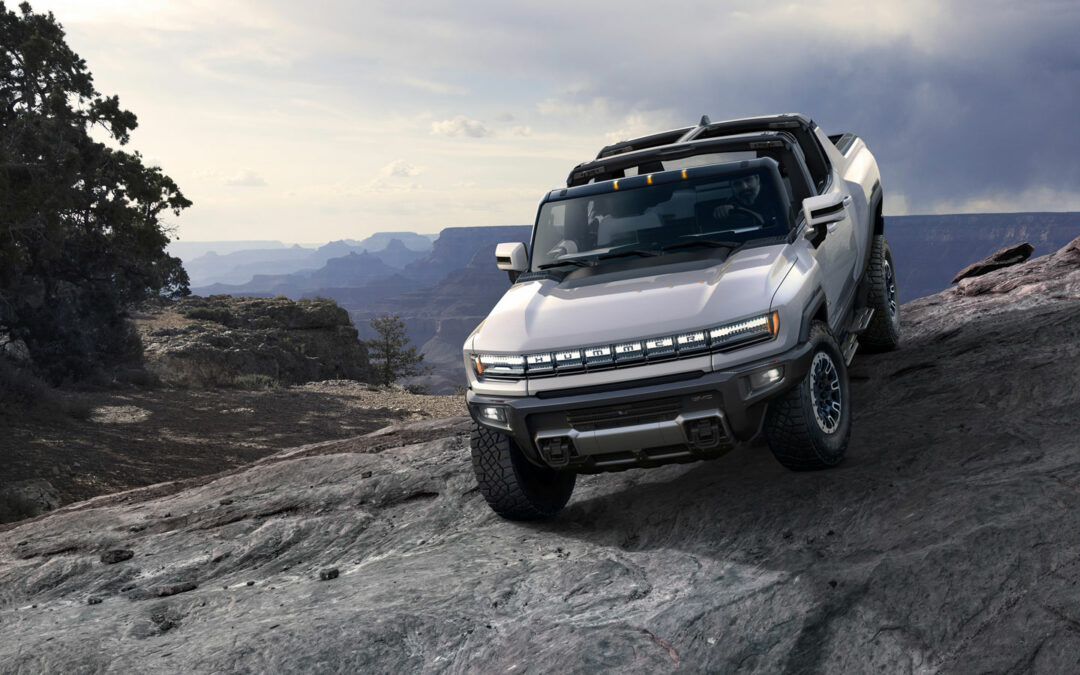 Hummer EV: Notfalls im  Krebsgang durchs Gelände