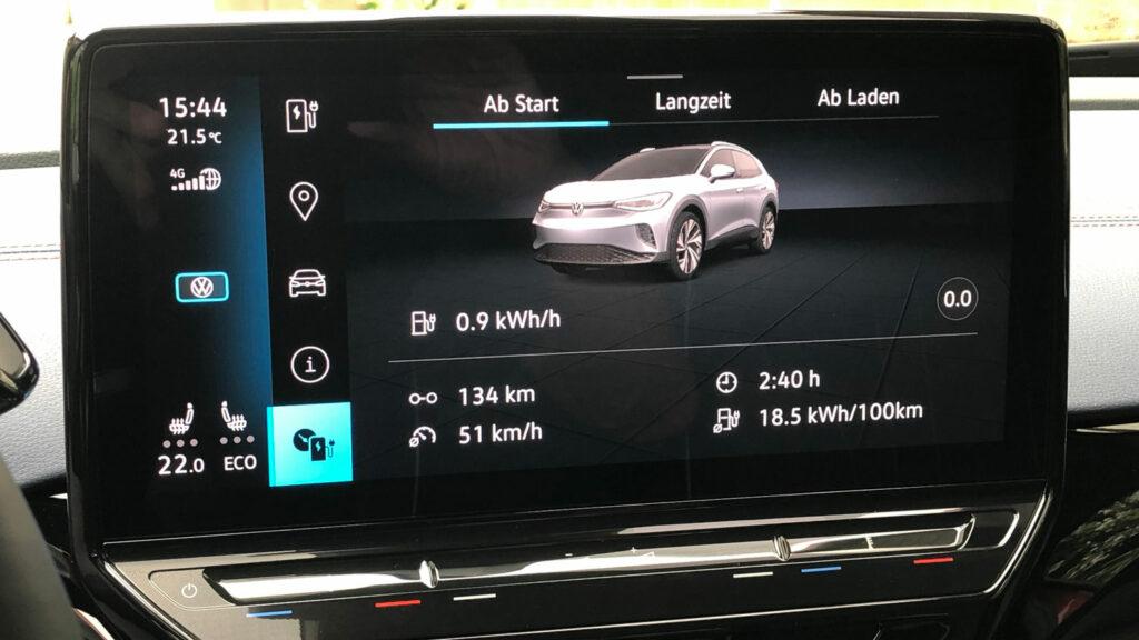 18,5 kWh Durchschnittsverbrauch nach der ersten Etappe  Wer den GTX zurückhaltend bewegt, wird mit erstaunlich niedrigen Stromverbräuchen belohnt. Foto: Wolfgang Eschment