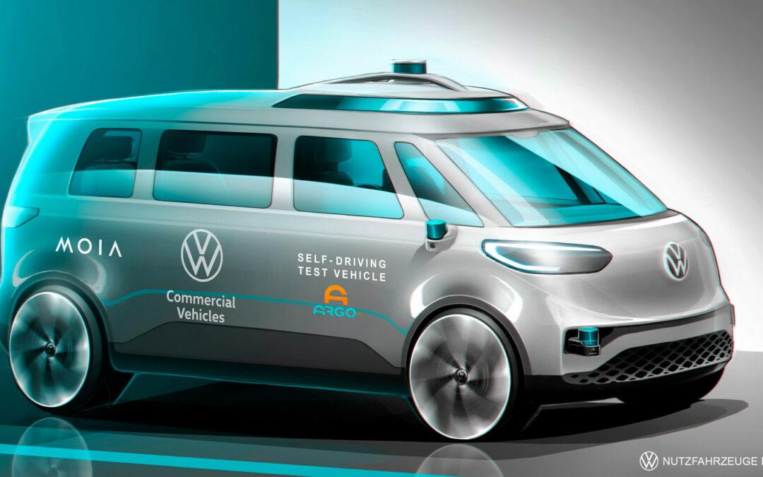 ID.Buzz fährt ab 2025 als Robo-Taxi durch die Stadt