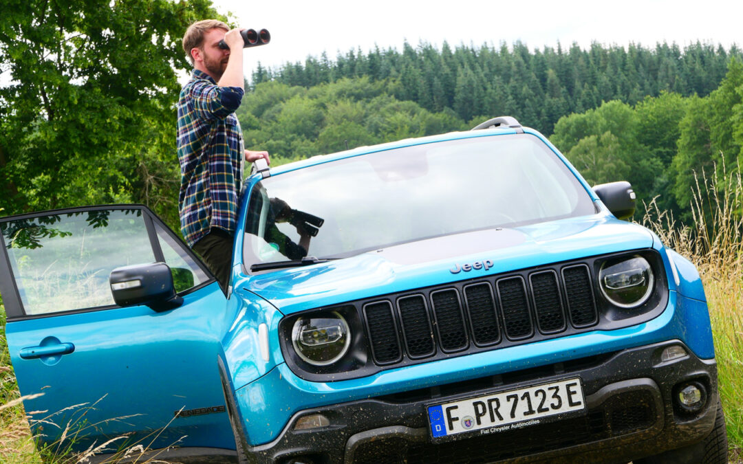Mit dem Jeep Renegade 4xe auf Schleichfahrt ins Revier