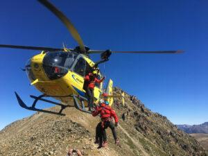 Rettung eines Vermissten mit dem Hubschrauber