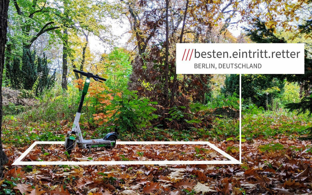 What3words hilft Lime bei der Ortung der E-Scooter