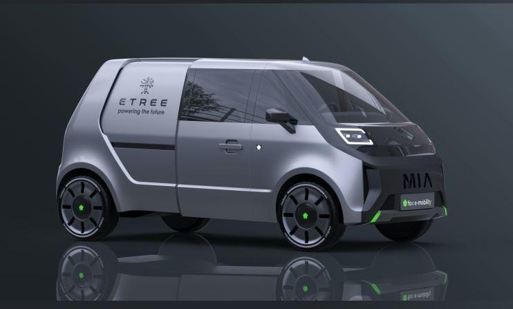 Schicker Elektro-Lieferwagen  Von Anfang an soll der neue Mia auch in einer Version für Gewerbebetriebe angeboten werden. Das Stuttgarter Unternehmen e-tree hat bereits Interesse bekundet, das Elektroauto als mobile Ladestation einzusetzen. Foto: Fox e-mobility