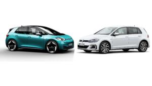 ID.3 und Golf GTE von Volkswagen