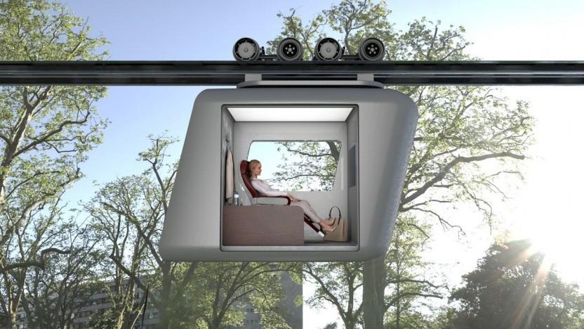 Verkehrsmittel der Zukunft für die dritte Dimension