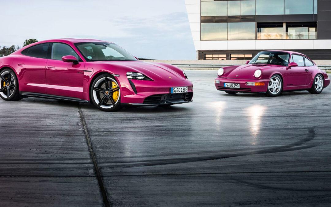 Porsche Taycan wird bunter – und lädt Strom noch fixer
