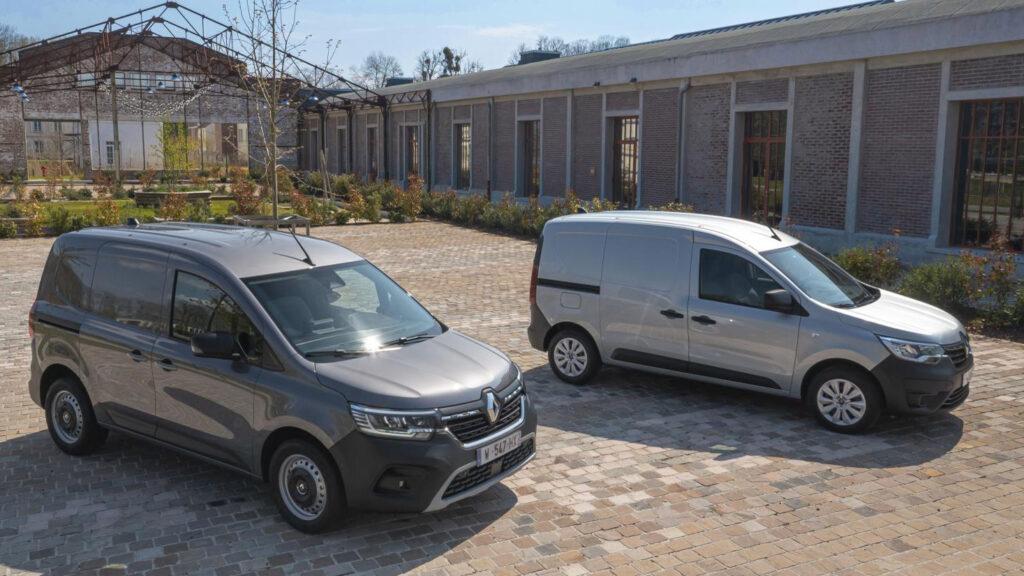 Brüderchen und Schwesterchen aus Frankreich  Der Renault Kangoo ist bereits auf dem Markt. Die Elektroversion folgt aber auch erst im kommenden Jahr. Foto: Renault