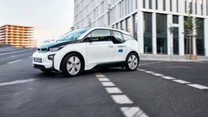 Carsharing-Fahrzeug von ShareNow, BMW i3