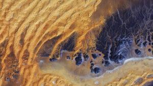 Algerische Wüste aus dem Weltraum betrachtet