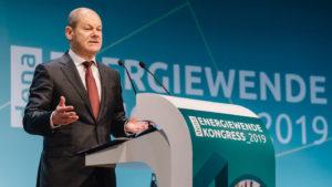 Bundesfinanzminister Olaf Scholz auf dem dena Energiewende-Kongress 2019