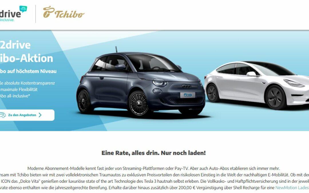 Tchibo bietet nun auch Elektroautos im Abo an