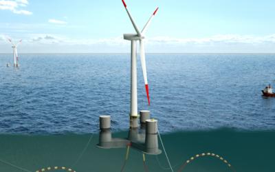 Schwimmende Windräder für Nord- und Ostsee
