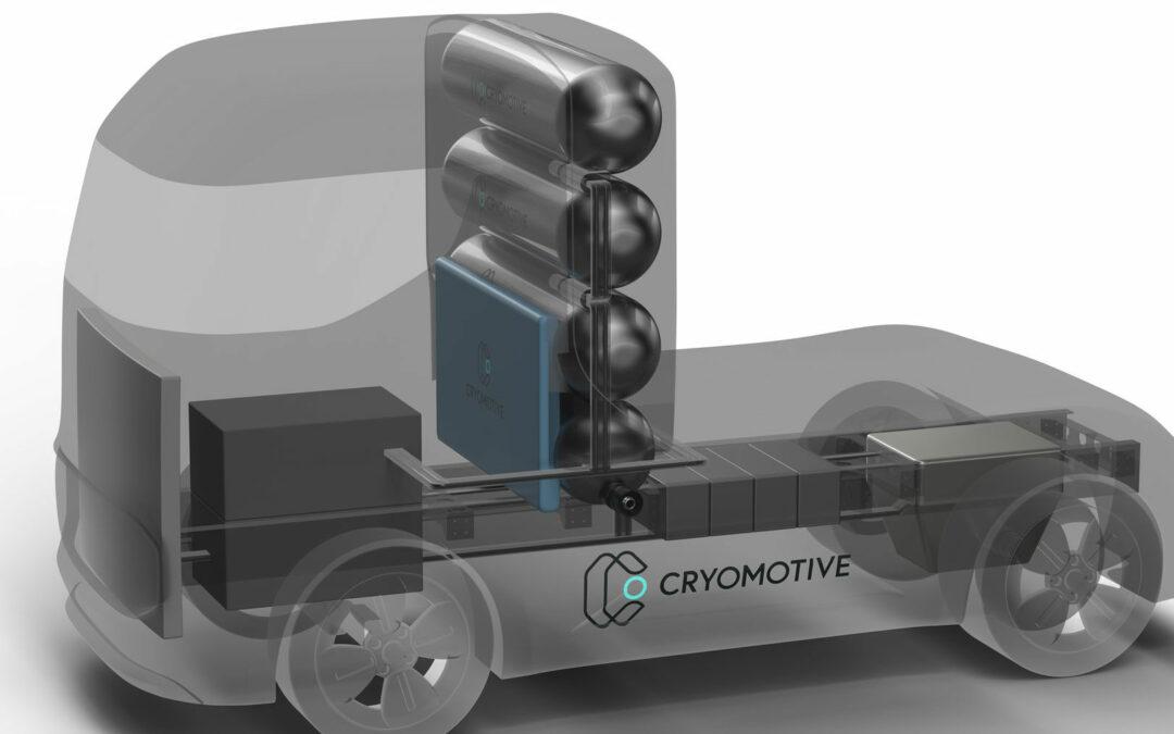 Cryomotive-Laster fahren mit kaltem Wasserstoff