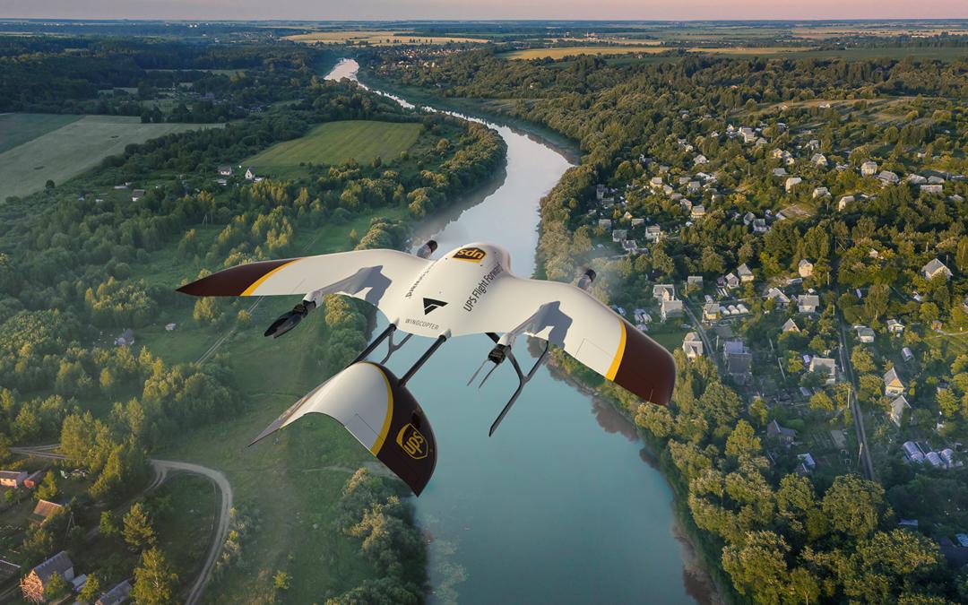 US-Paketriese UPS kooperiert mit deutschem Drohnen-Start-up