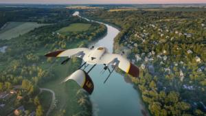 Paketdrohne von UPS und Wingcopter