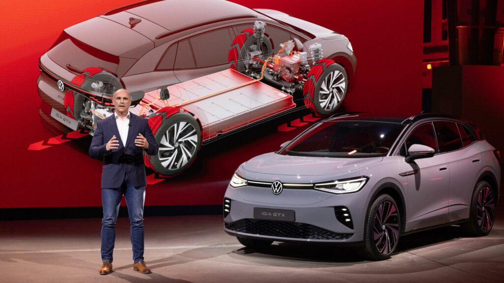 """""""Fahrdynamik wird auch in der Zukunft ein wichtiges VW-Kriterium bleiben""""  Für VW-Entwicklungschef Thomas Ulbrich ist der Modulare Elektro-Baukasten (MEB) des Konzerns noch zu konventionell. In der nächsten Entwicklungsstufe kommt mehr """"Pfeffer"""" rein - mit größeren Reichweiten und höheren Ladeleistungen. Foto: Volkswagen"""