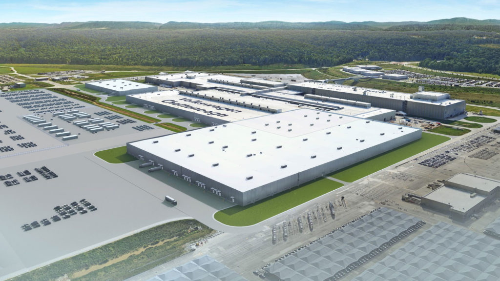 VW-Gigafacotry: Skizze von der geplanten Erweiterung des US-Werks Chattanooga. Foto: Volkswagen