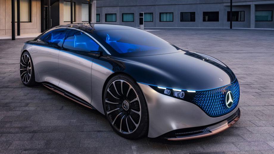 Da war der Mercedes EQS noch eine Vision  Wie viel es von dem Konzeptauto in die Serie geschafft hat, werden wir in einigen Wochen sehen, wenn die elektrische Luxuslimousine komplett enthüllt wird. Foto: Mercedes-Benz