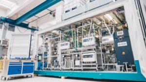 Wasserstofffreisetzungsanlage ReleaseBOX von Hydrogenious