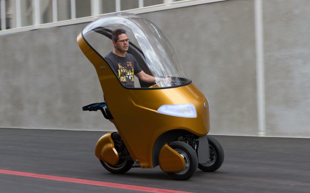 Bicar: Goldenes E-Dreirad für die letzte Meile
