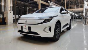 Der chinesische Elektroautohersteller Byton startet die Vorserien-Fertigung des M-Byte.