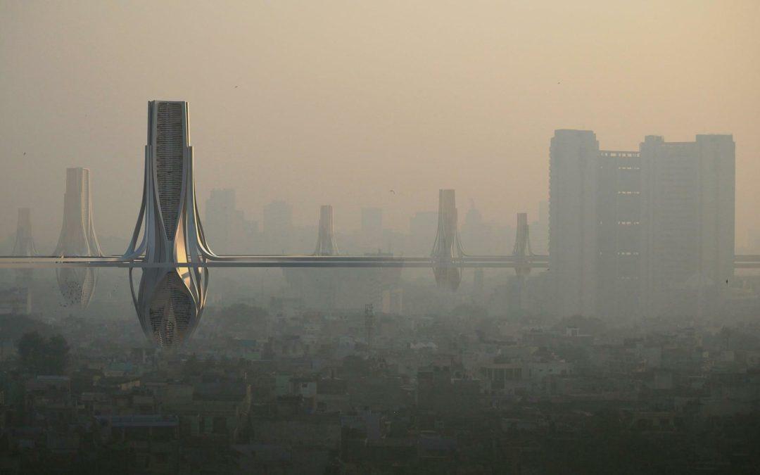 Hochhäuser: Smog-Fänger für Delhi