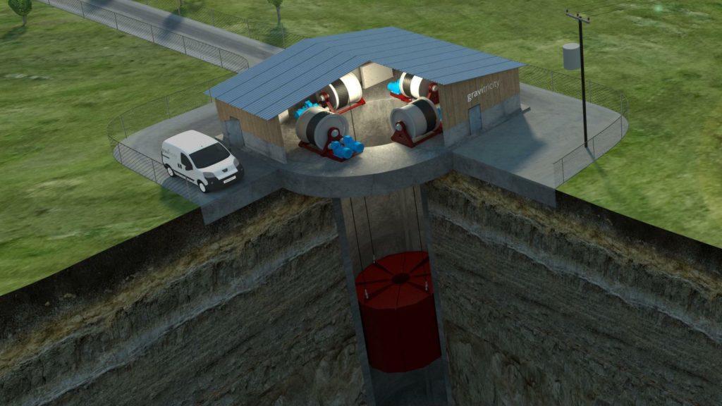 Simulation des Energiespeichers von Gravitricity