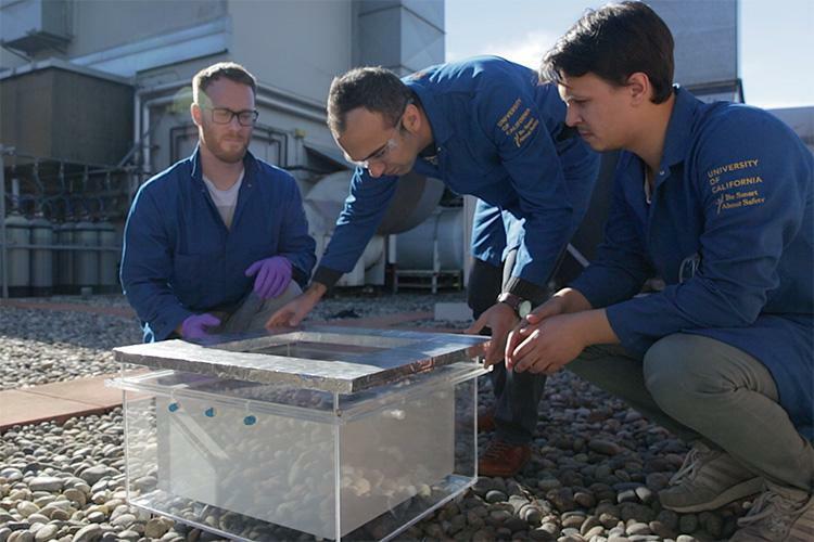 Filtersystem erntet Wasser aus der Luft