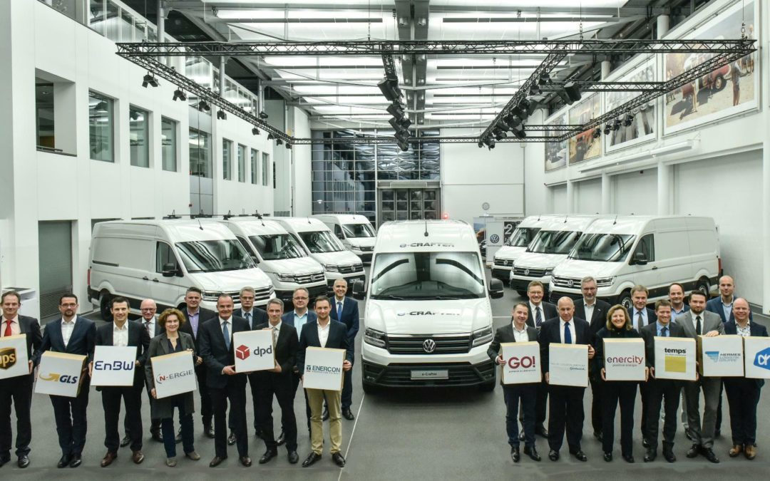 Volkswagen liefert e-Crafter für Praxistest aus