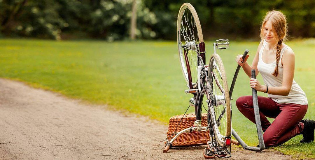 Platte Reifen schnell repariert