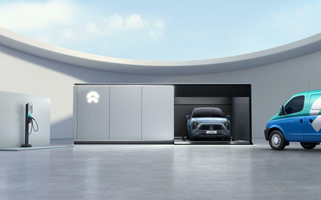 Elektroauto Nio: Batterie-Wechsel in nur drei Minuten