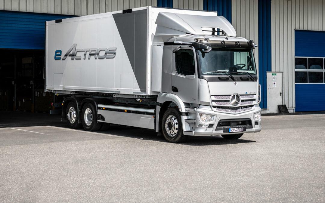 Actros von Mercedes-Benz künftig auch vollelektrisch