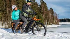 E-Bike im Schnee