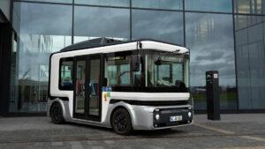 Kleinbus der e.Go Moove GmbH aus Aachen, welche von zukünftig von Miltenyi Biotec supportet wird.