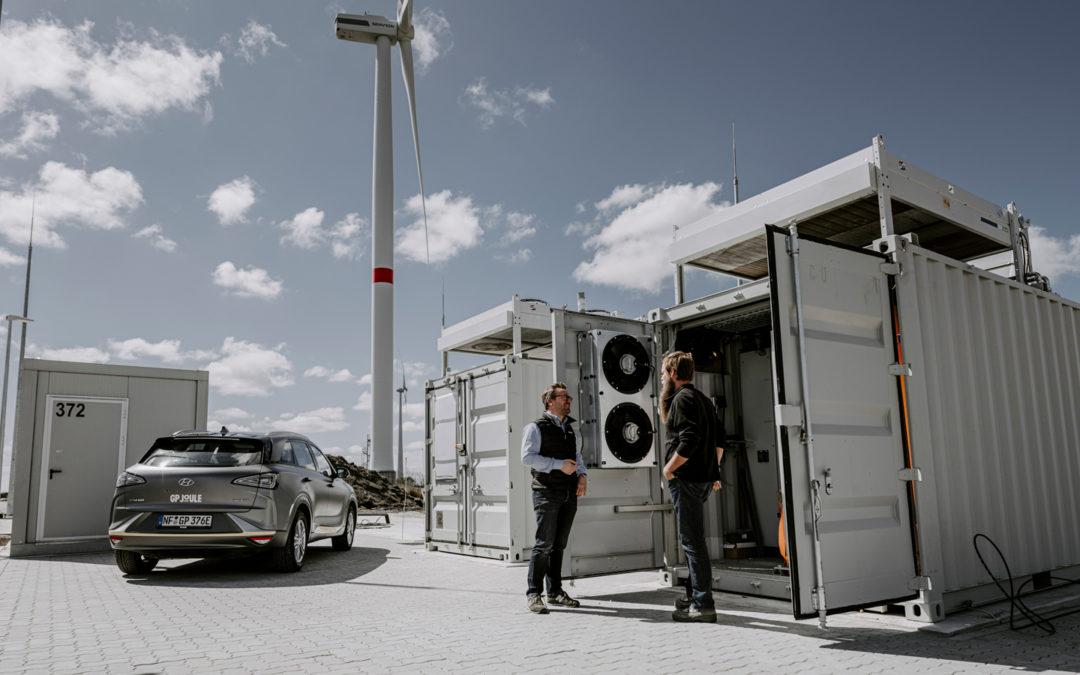 Grüne Strom-Farmer fahren auf Wasserstoff ab
