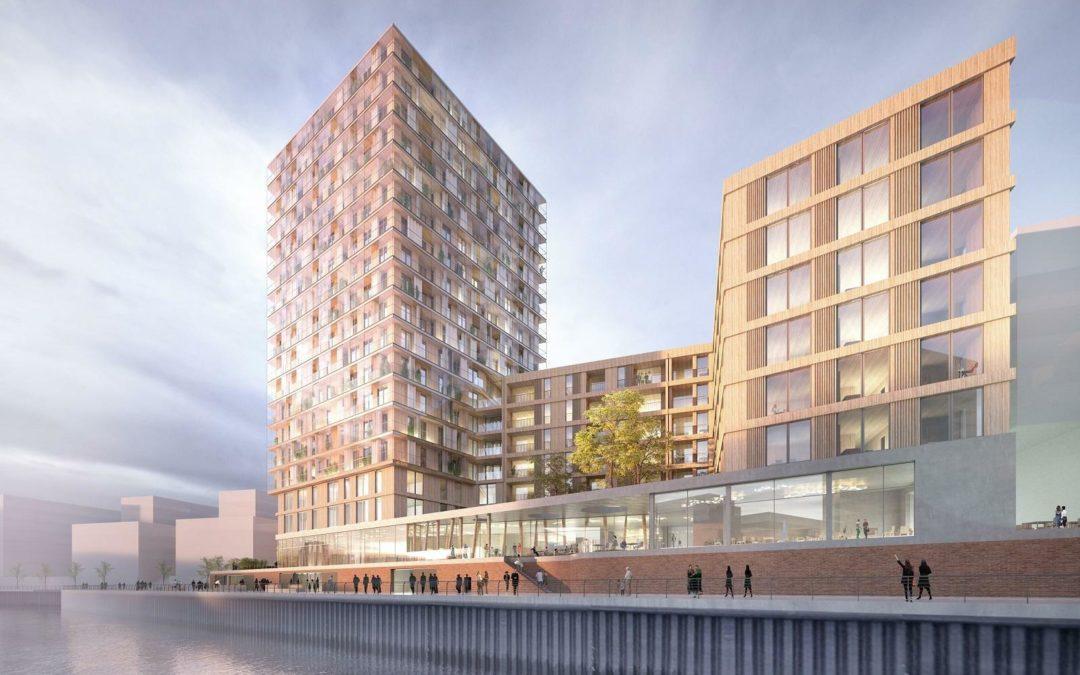 Deutschland größtes Holzhochhaus entsteht in der Hamburger Hafencity