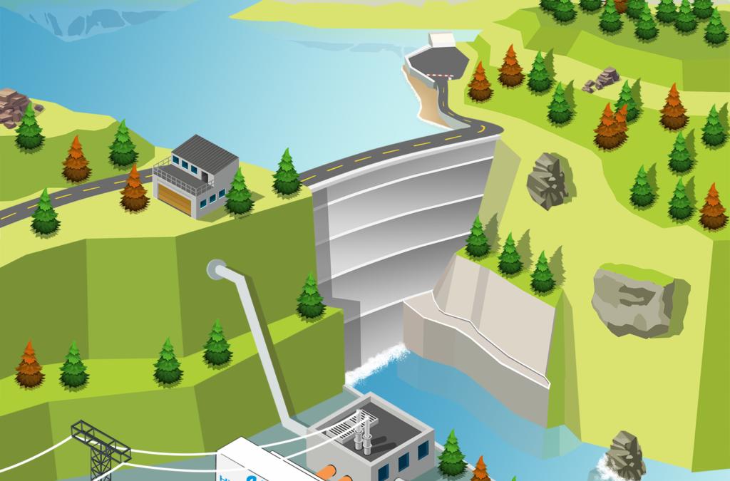 Wasserkraft macht Bitcoin sauberer
