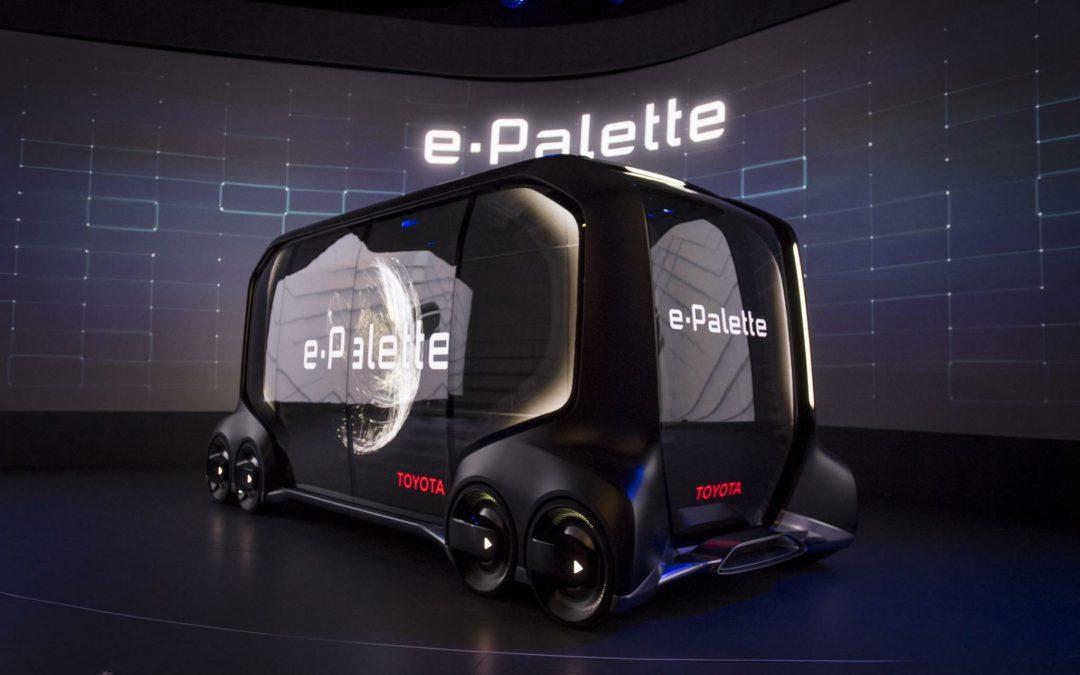 Toyotas Konzept eines autonomen Lieferwagens