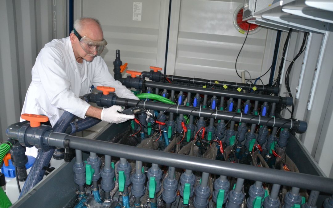 Neue Brennstoffzelle liefert Strom aus der Kläranlage
